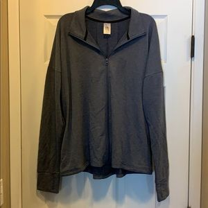 Slate blue Athletic Works French Terry jacket